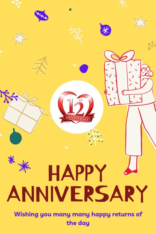 12th Wedding Anniversary Wishes Messages quotes 1