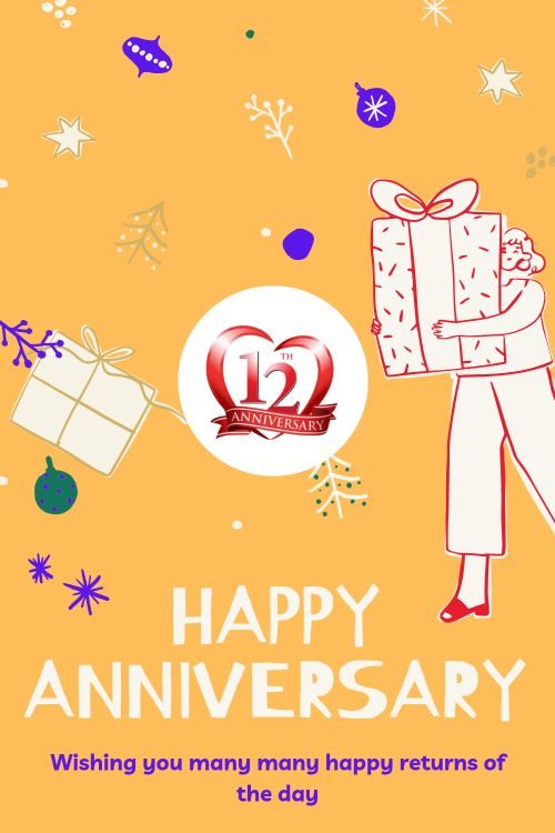 12th Wedding Anniversary Wishes Messages quotes 10
