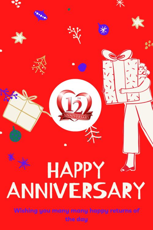 12th Wedding Anniversary Wishes Messages quotes 2