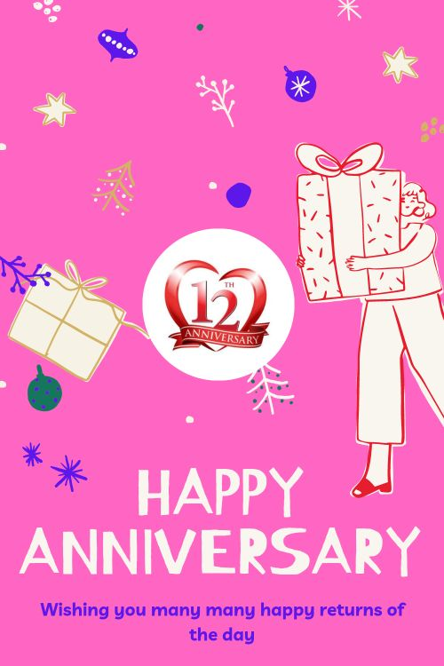 12th Wedding Anniversary Wishes Messages quotes 5