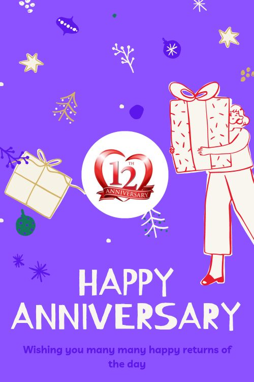 12th Wedding Anniversary Wishes Messages quotes 8