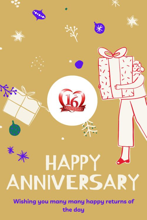 16th Wedding Anniversary Wishes Messages quotes 1