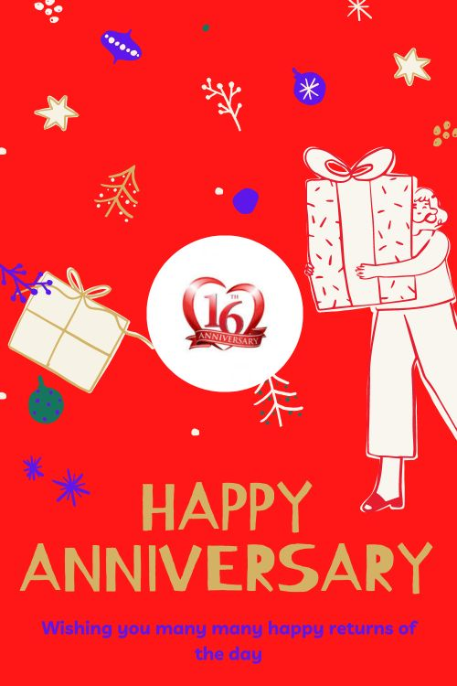 16th Wedding Anniversary Wishes Messages quotes 10