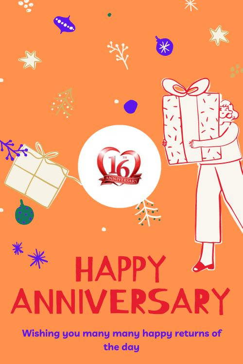 16th Wedding Anniversary Wishes Messages quotes 2