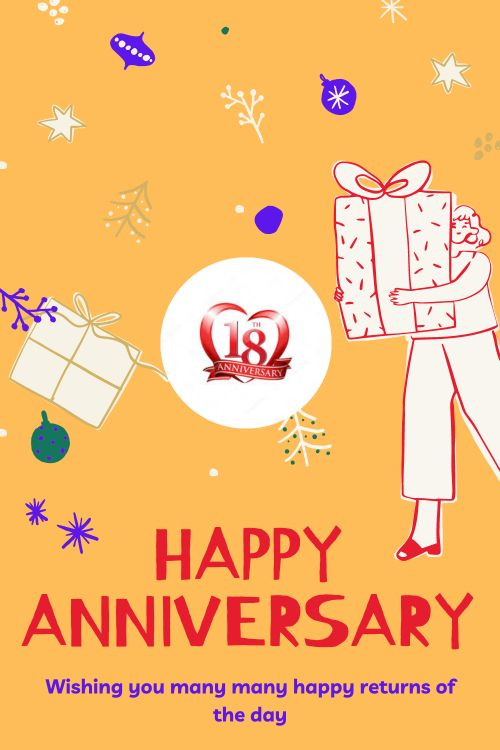 18th Wedding Anniversary Wishes Messages quotes 1