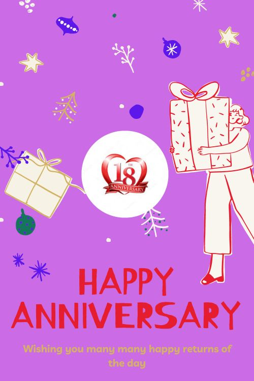 18th Wedding Anniversary Wishes Messages quotes 3