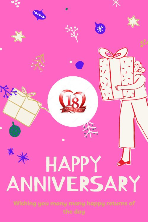18th Wedding Anniversary Wishes Messages quotes 6