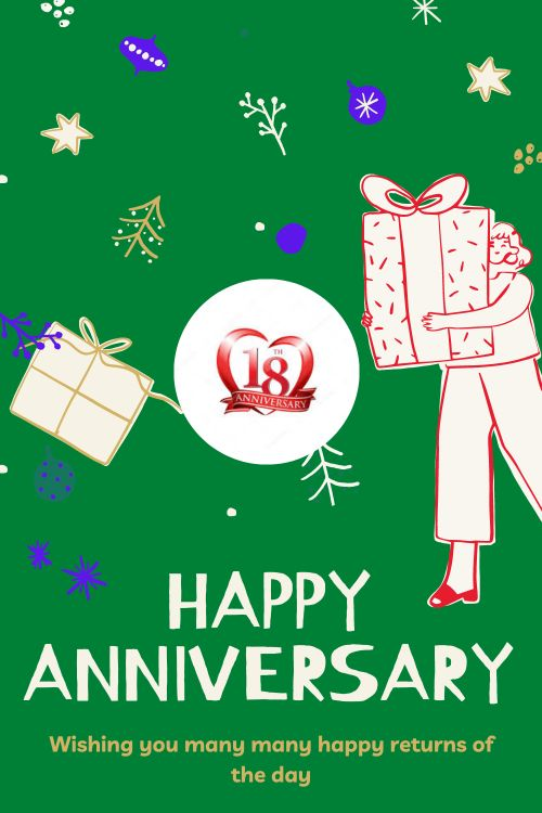 18th Wedding Anniversary Wishes Messages quotes 7