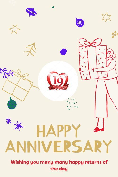 19th Wedding Anniversary Wishes Messages quotes 1