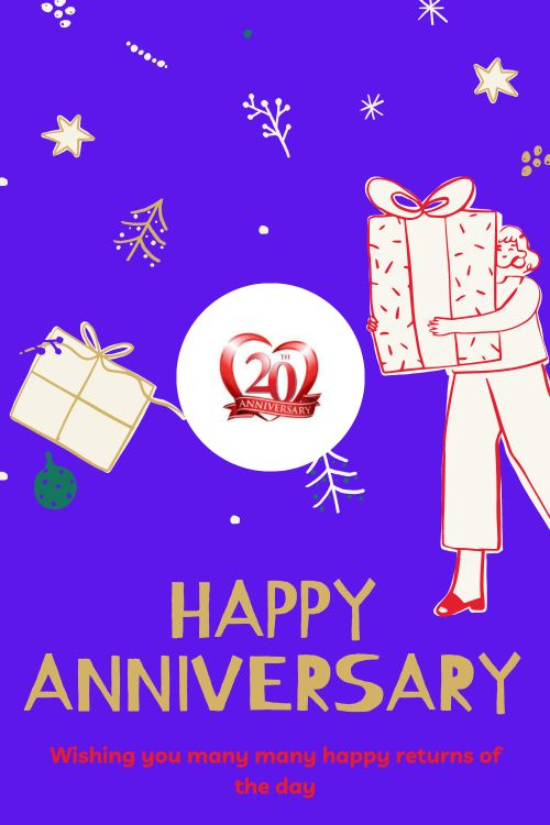 20th Wedding Anniversary Wishes Messages quotes 4