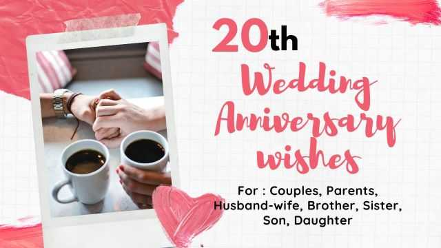20th Wedding anniversary wishes quotes message
