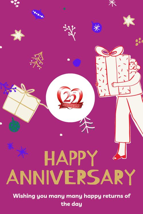 22th Wedding Anniversary Wishes Messages quotes 2