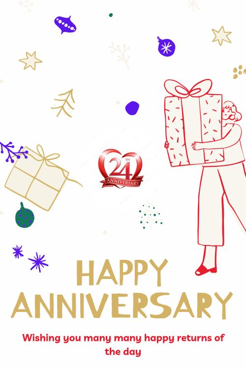 24th Wedding Anniversary Wishes Messages quotes 1