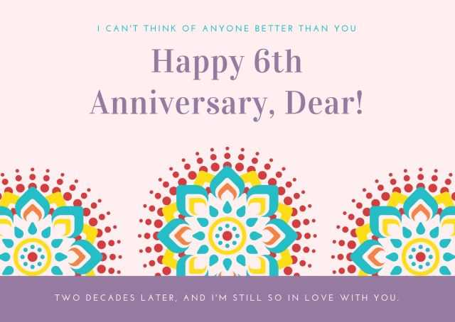 6th Wedding Anniversary Wishes with Photos images