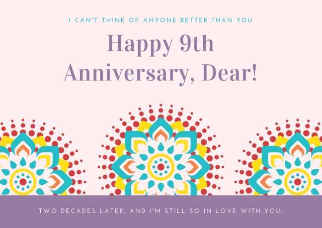 9th Wedding Anniversary Wishes images compressed