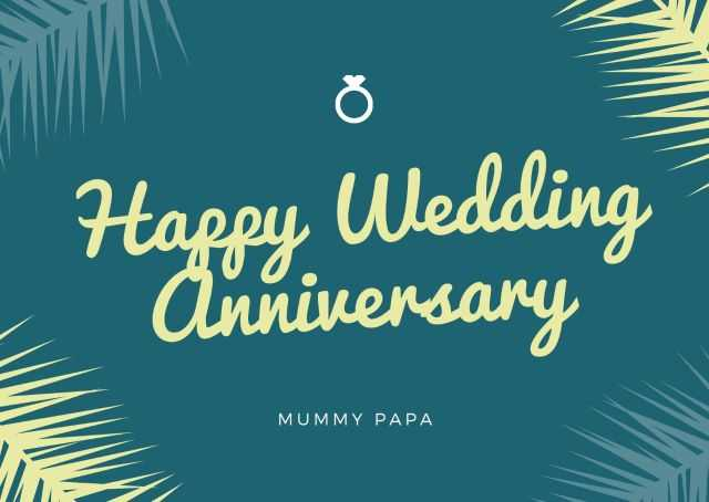 Happy Anniversary Wishes Images for Parents