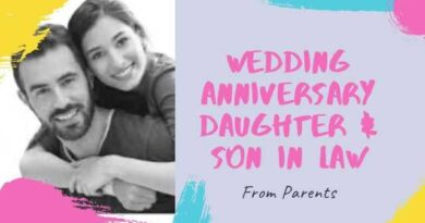 Happy Wedding Anniversary Wishes for Daughter and Son in Law