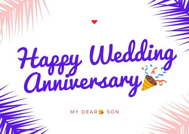 Wedding Anniversary Wishes Images for Son