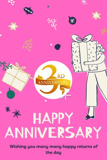 3rd Wedding Anniversary Wishes Messages Quotes 1
