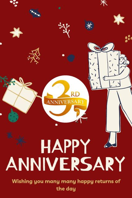 3rd Wedding Anniversary Wishes Messages Quotes 4