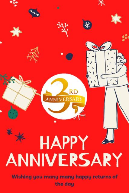 3rd Wedding Anniversary Wishes Messages Quotes 6