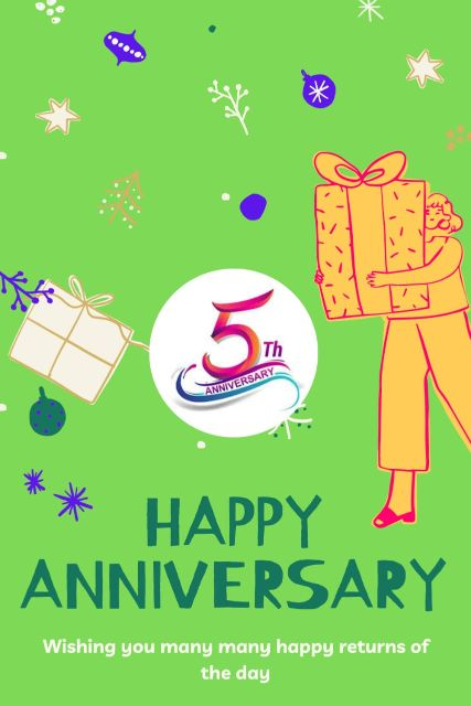 5th Wedding Anniversary Wishes Messages Quotes 5