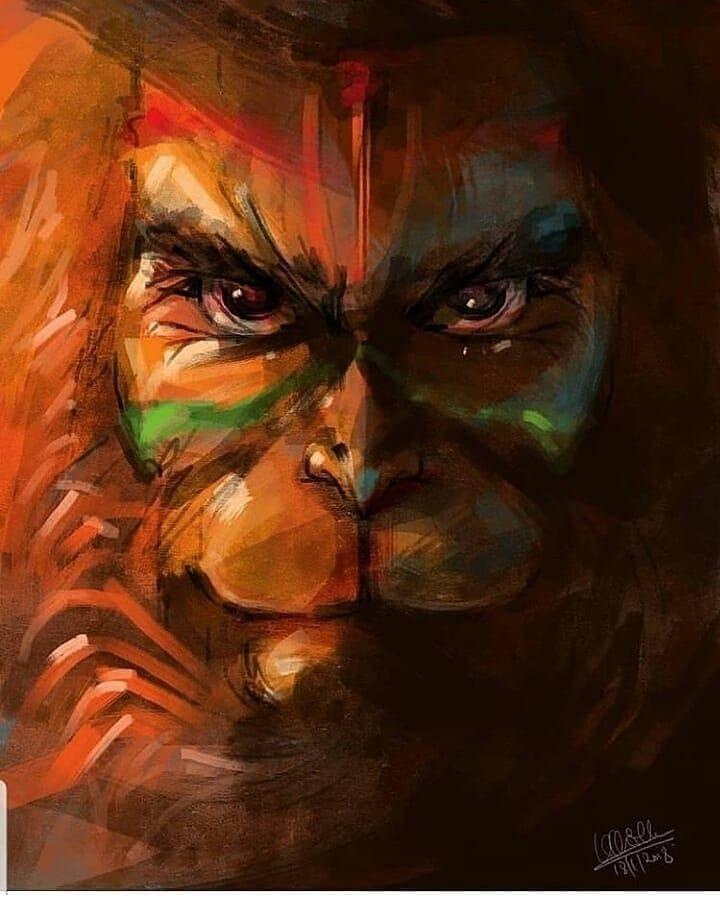 Angry Hanuman Images DP Status for WhatsApp Facebook 19