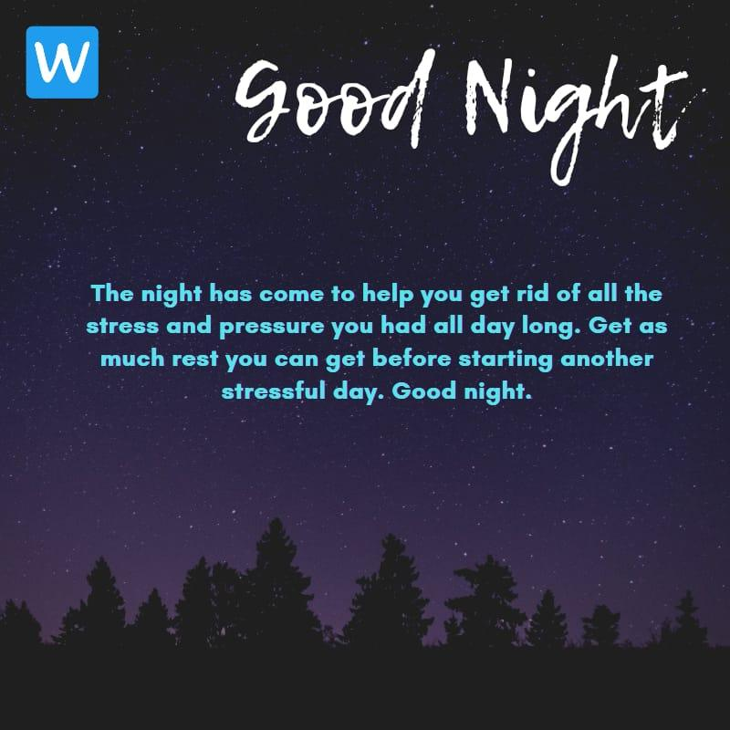 Good Night SMS Wishes Messages Images Pic in English 4-compressed