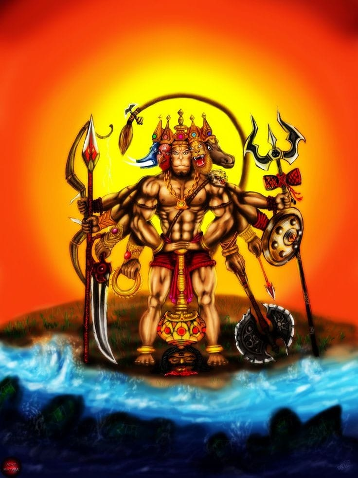 Panchmukhi Hanuman Images in Hindi 3