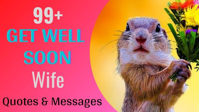 Get well soon wishes messages for wife